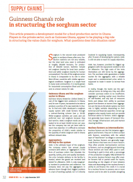 Guinness Ghana's role in structuring the sorghum sector