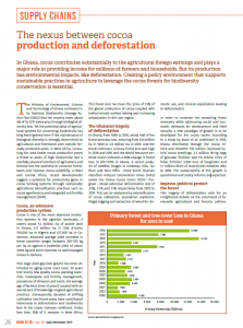 The nexus between cocoa production and deforestation