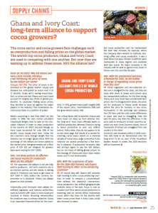 Ghana and Ivory Coast: long-term alliance to support cocoa growers?