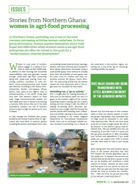 Stories from Northern Ghana: women in agri-food processing