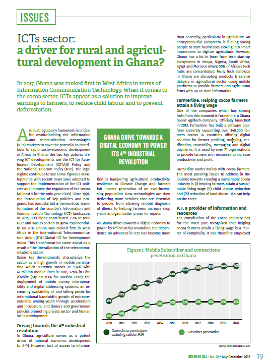 ICTs sector: a driver for rural and agricultural development in Ghana?