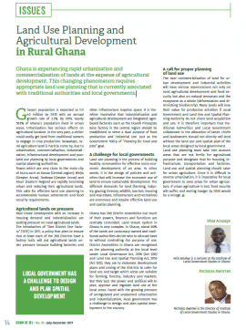 Land Use Planning and Agricultural Development in Rural Ghana