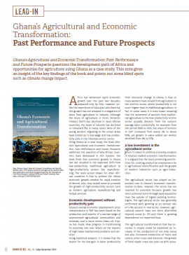 Ghana's Agricultural and Economic Transformation: Past Performance and Future Prospects