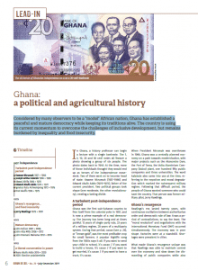 Ghana: a political and agricultural history