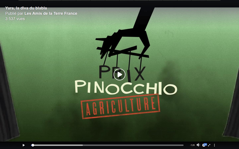 Vidéo - Yara, grand vainqueur des prix Pinocchio 2020 spécial agriculture
