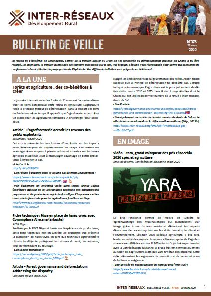 Bulletin de veille n°378