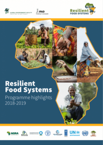 Rapport annuel - Programme Resilient Food Systems