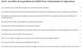 Questions/Réponses : Les effets de la pandémie du COVID-19 sur l'alimentation et l'agriculture