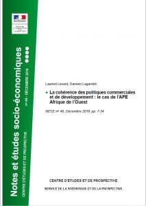 Note - La cohérence des politiques commerciales et de développement : le cas de l'APE