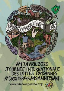 Communiqué : 17 Avril-Journées internationales des luttes paysannes