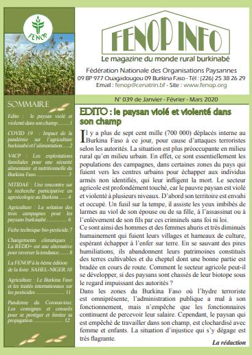 Bulletin FENOP Info N°39