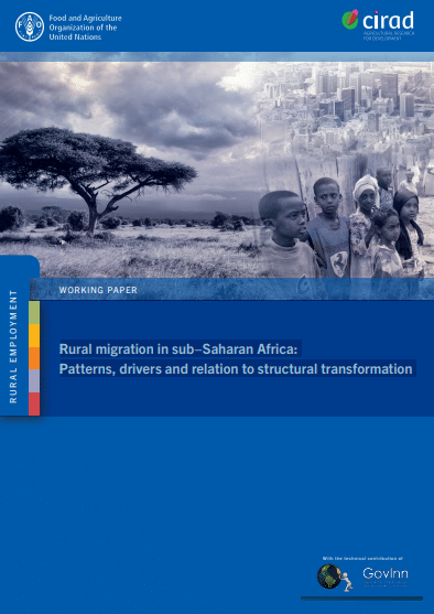 Rapport - Rural migration in sub−Saharan Africa: Patterns, drivers and relation to structural transformation