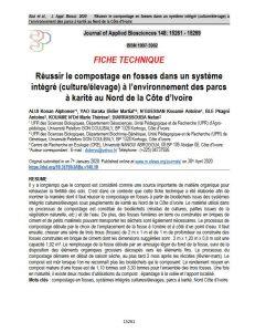 Fiche technique - Compostage en fosses dans un système intégré à l'environnement des parcs à karité