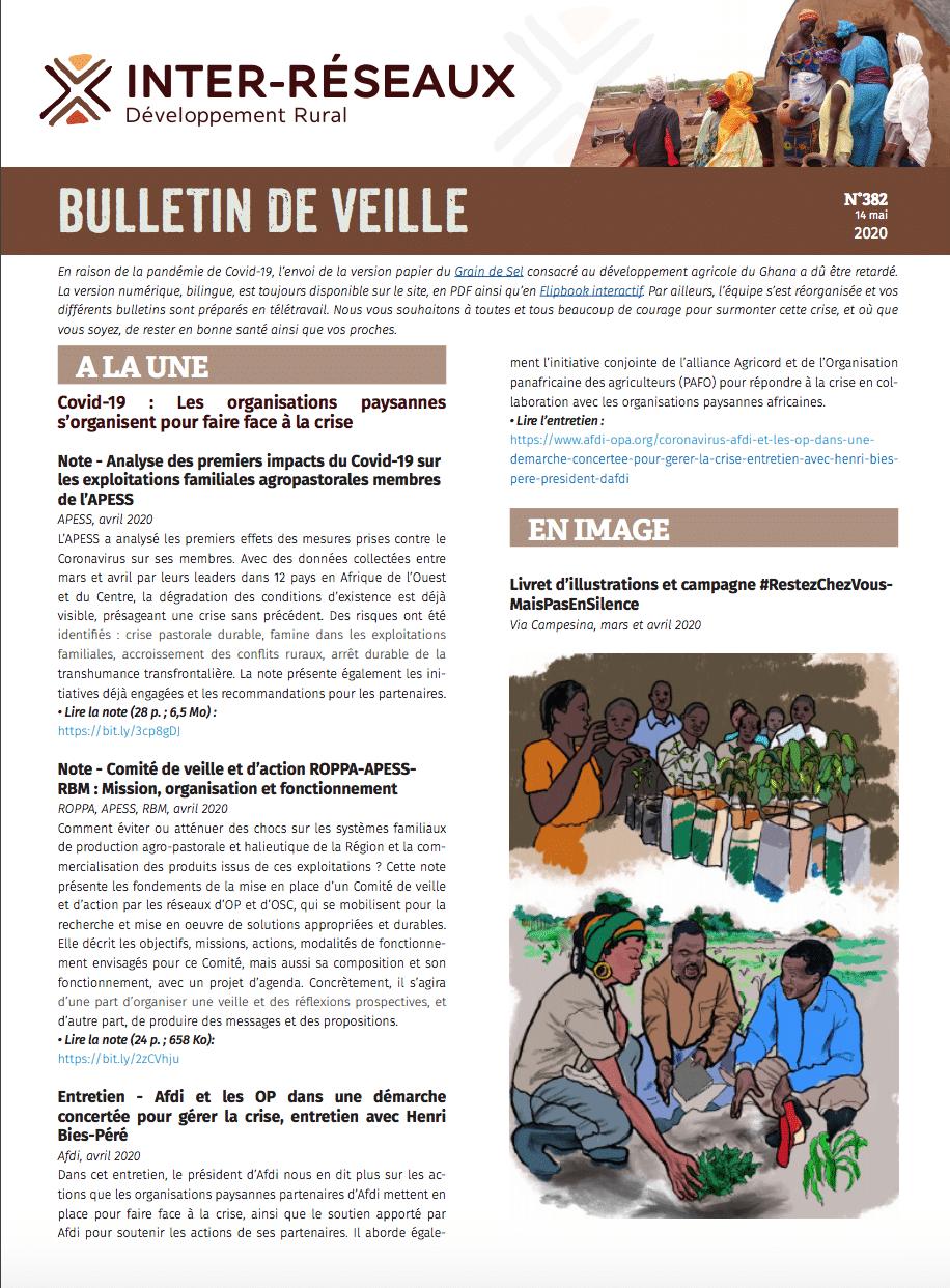 Bulletin de veille n° 382