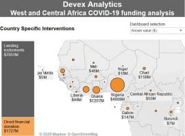 Interactive map - An analysis of COVID-19 funding in West and Central Africa