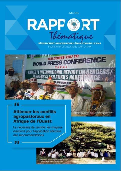 Rapport - Atténuer les conflits agropastoraux en Afrique de l'Ouest