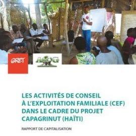 Vue d'ailleurs - Retour sur une méthodologie de conseil à l'exploitation familiale en Haïti