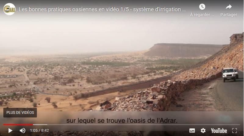 Vidéo - Bonnes pratiques oasiennes : Système d'irrigation