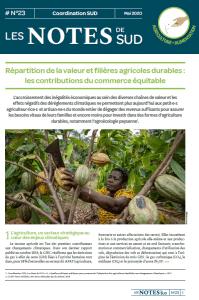 NOTES DE SUD N°23 – RÉPARTITION DE LA VALEUR ET FILIÈRES AGRICOLES DURABLES : LES CONTRIBUTIONS DU COMMERCE ÉQUITABLE