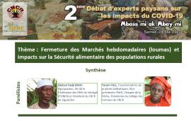 Synthèse-débats:  Fermeture des Marchés hebdomadaires et impacts sur la Sécurité alimentaire des populations rurales