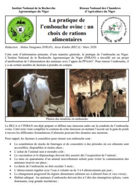 Note:  La pratique de l'embouche ovine : un choix de rations alimentaires