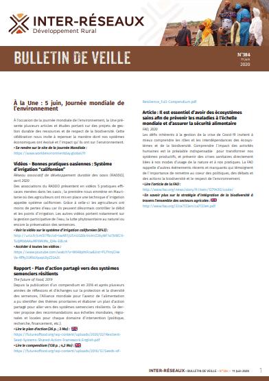 Bulletin de veille n°384