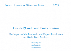 Analyse - Covid-19 and Food Protectionism The Impact of the Pandemic and Export Restrictions on World Food Markets