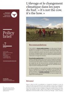 Policy biref - L'élevage et le changement climatique dans les pays du Sud : « It's not the cow