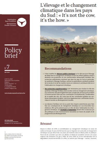 Policy biref - L'élevage et le changement climatique dans les pays du Sud : « It's not the cow, it's the how. »