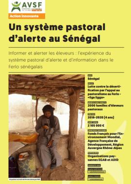 Fiche innovation - Un système pastoral d'alerte au Sénégal