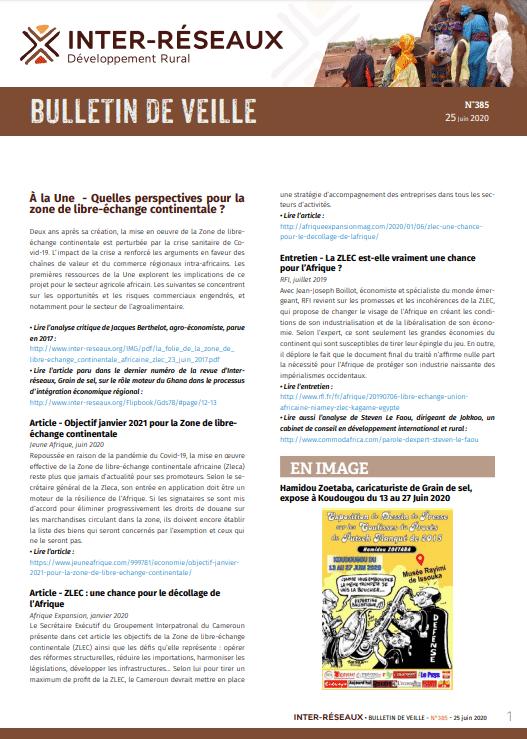 Bulletin de veille n°385