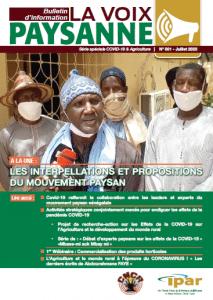 """Bulletin """"La voix paysanne N°001"""": Série spéciale COVID-19 & Agriculture"""