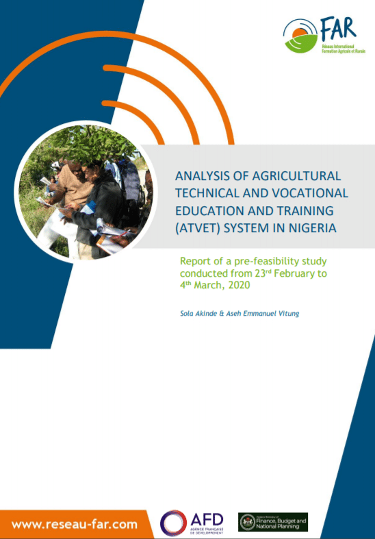 Report :  Agricultural technical and vocational education and training in Nigeria