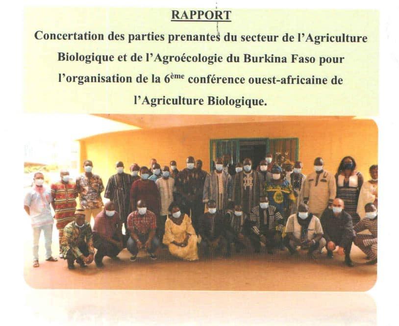 Compte-rendu - Concertation des parties prenantes du secteur de l'agriculture biologique et de l'agroécologie au Burkina Faso
