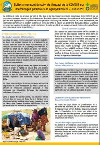 Bulletin - Suivi de l'impact de la COVID19 sur les ménages pastoraux et agropastoraux