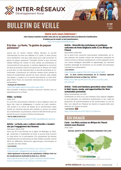 Bulletin de veille n°387