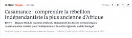 Vidéo - Casamance : comprendre la rébellion indépendantiste la plus ancienne d'Afrique