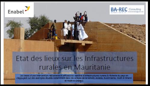 Etude - Dialogue sectoriel : Etat des lieux sur les Infrastructures rurales en Mauritanie