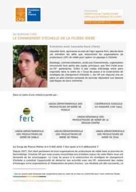 Entretien - Burkina Faso : le changement d'échelle de la filière Niébé