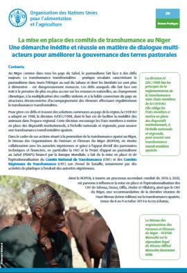 Note - La mise en place des comités de transhumance au Niger