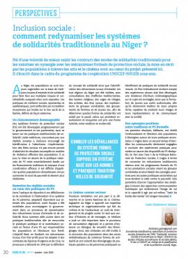 Inclusion sociale : comment redynamiser les systèmes de solidarités traditionnels au Niger ?