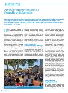Articuler protection sociale formelle et informelle