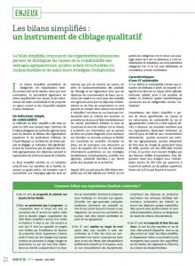 Les bilans simplifiés : un instrument de ciblage qualitatif
