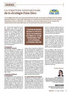 La trajectoire internationale de la stratégie Faim Zéro