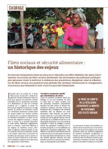 Filets sociaux et sécurité alimentaire : un historique des enjeux
