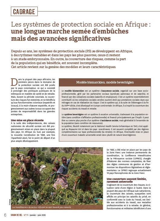 Les systèmes de protection sociale en Afrique : une longue marche semée d'embûches mais des avancées significatives