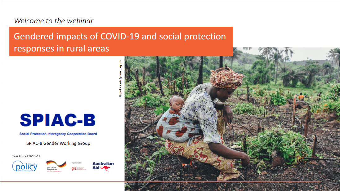 PPT and recording- Webinar #29: Gendered impacts of COVID-19 and social protection responses in rural areas