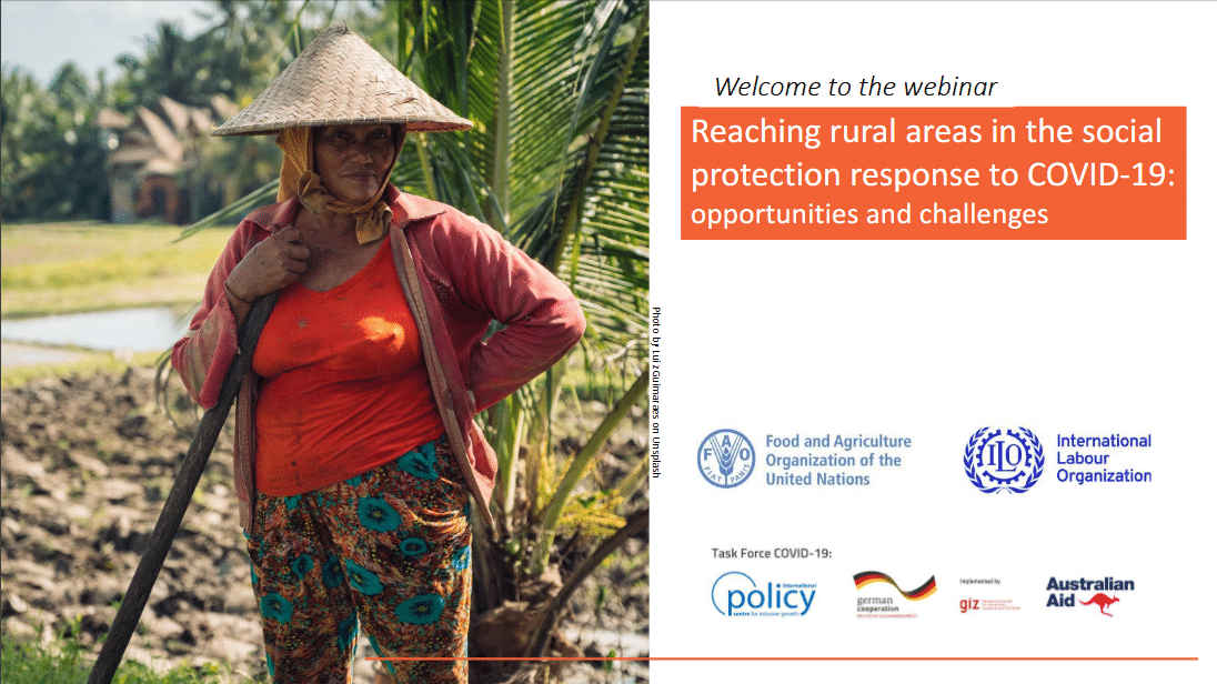 PPT and recording- Reaching rural areas in the social protection response to COVID-19: opportunities and challenges
