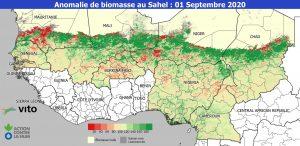 Bulletin - Etat de la biomasse et de l'eau de surface au Sahel à la mi-saison de l'hivernage 2020