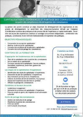 Formation en ligne - Capitalisation d'expériences et partage de connaissances